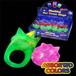 LED Spike Jelly Ring - Assorted