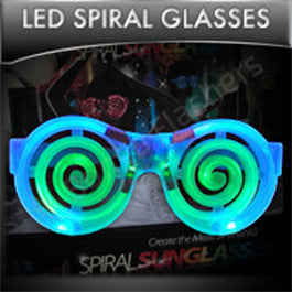 LED Spiral Glasses