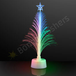 "11.5"" White Light Up Christmas Tree Centerpieces - White Only"
