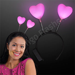 Light Up Love Hearts Head Boppers