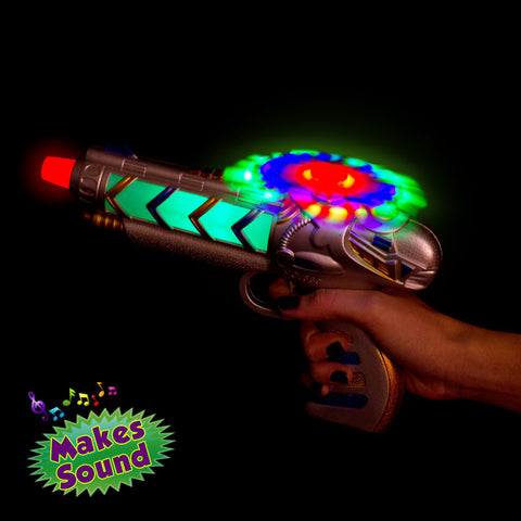 Light Up Helicopter Gun With Sound