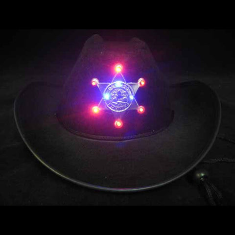 Flashing Star Cowboy Hat (Black)