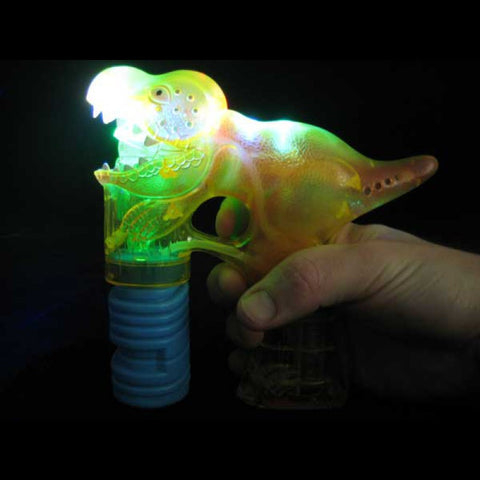 Flashing Dinosaur Bubble Gun