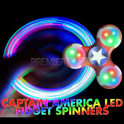 Captain America LED Fidget Spinner