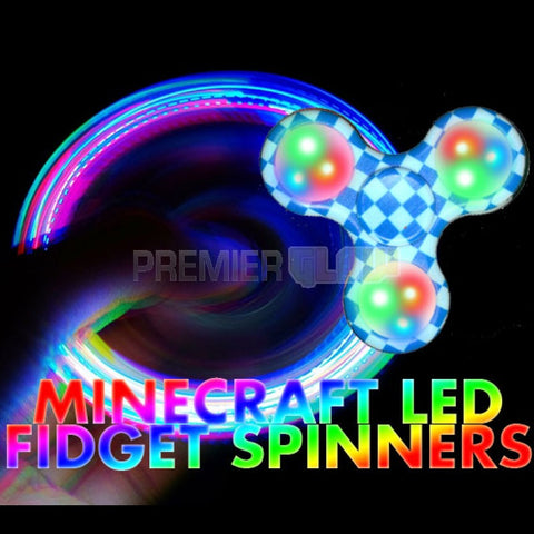 Led Pixel (Minecraft) Fidget Spinner