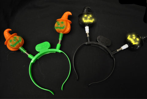 Flashing Pumpkin Headband (1 piece, assorted colors)