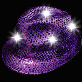 Purple Sequin LED Fedora