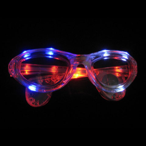 Red White Blue Flashing Sun Glasses