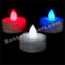 Red,White & Blue LED tea lights