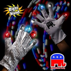 Republican Party LED Sequin Glove