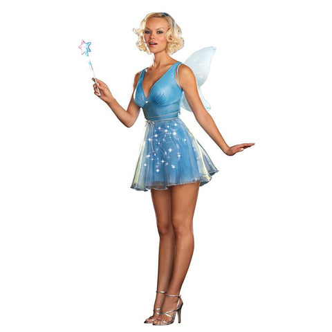 True Blue Fairy (Light Up) Adult Costume  sc 1 st  Bongo Flashers : the blue fairy costume  - Germanpascual.Com