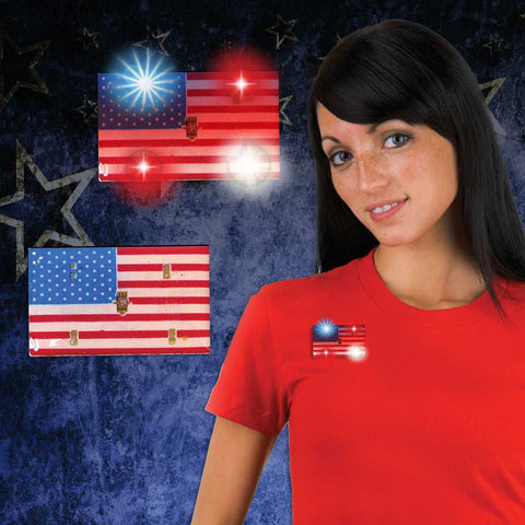 LED USA Flag Blinky (12 Pack)