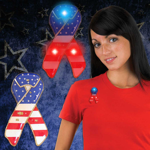 LED USA Ribbon Blinky (12 Pack)