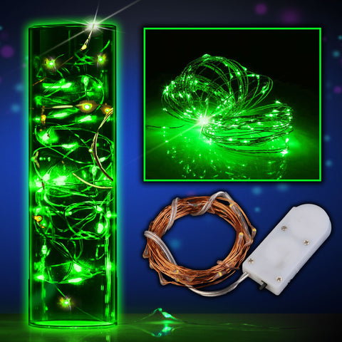 LED Green String Lights - 6/pack
