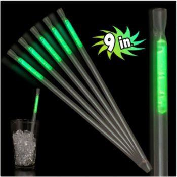 "Green Motion 9"" Glow Straws - 25 Pack"