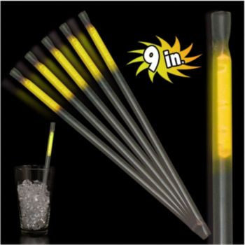 "Yellow Motion 9"" Glow Straws - 25 Pack"