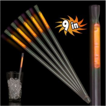 "Orange Motion 9"" Glow Straws - 25 Pack"