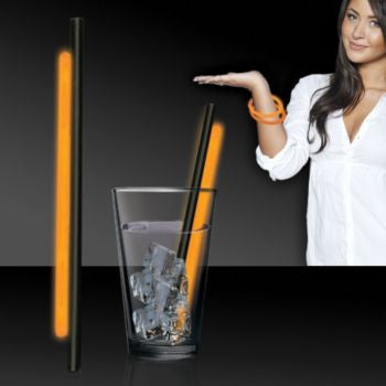 "Orange 9"" Glow Straws - 25 Pack"