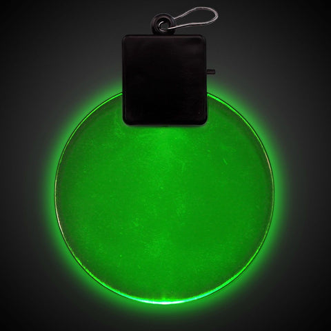 Green LED and Light - Up Round Medallion