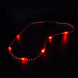 Red LED Beaded Necklace