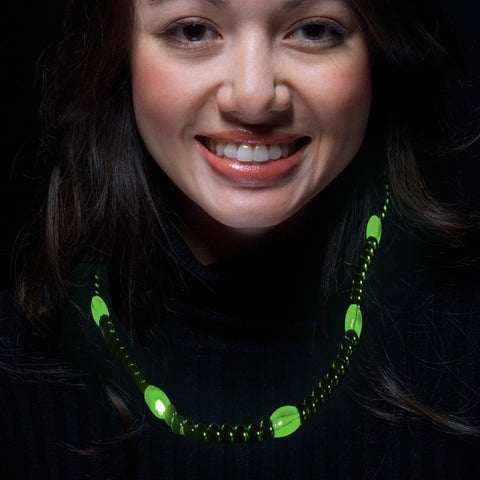 Green LED Beaded Necklace
