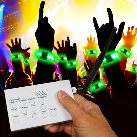 RF LED and Light - Up Concert Bracelet KIT - 20 Bracelets/1 Controller
