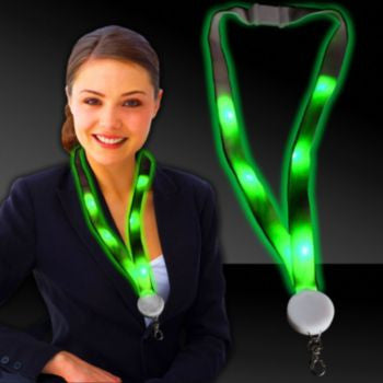 Green LED Lanyard - 32 Inch