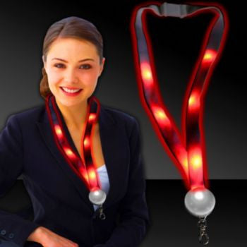 Red LED Lanyard - 32 Inch