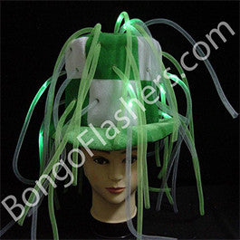 White/Green LED Tentacle Top Hat