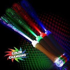 White Fiber Optic Wand with Strobe