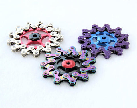 Fidget Spinner - Bike Chain - Blue/Purple