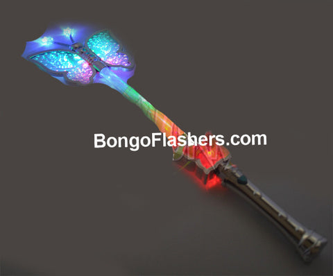 "15"" FLASHING GLITTER BUTTERFLY WAND (1 PIECE)"