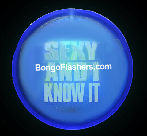 "2"" Flashing Badge ""Sexy & I Know It"" - 1 Piece"