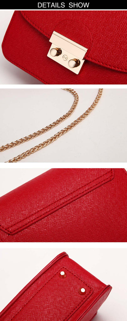 Leather Handbags Chain Small Women