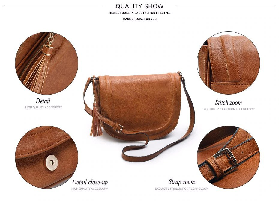Large Saddle Bag Crossbody Bags for Women