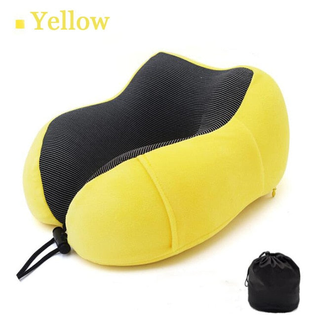 ultralight U Shaped soft Travel Pillow Memory Foam Neck Pillows for airplane Portable car travel accessories gray Drop Shipping
