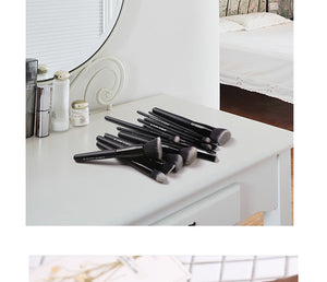 Black Makeup Brushes Set
