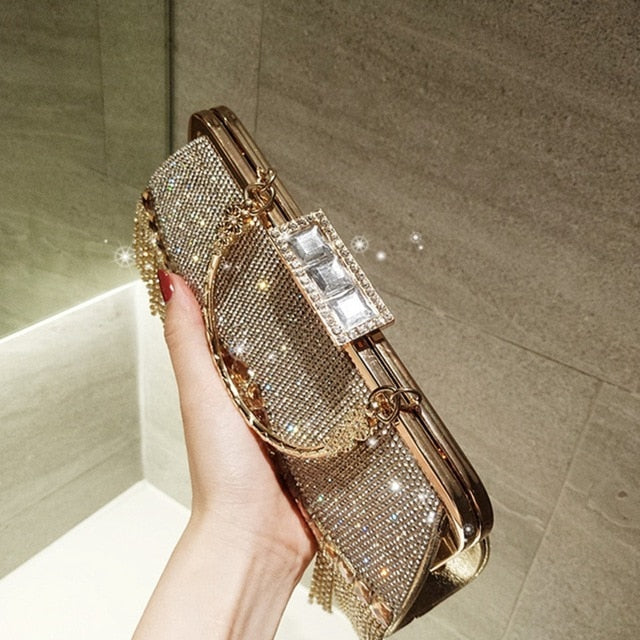 Women'S Crystal Evening Bag Retro Beaded