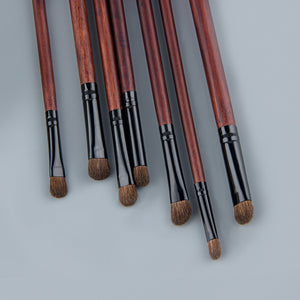 Eye Brush Set - Natural Hair - 7 pcs