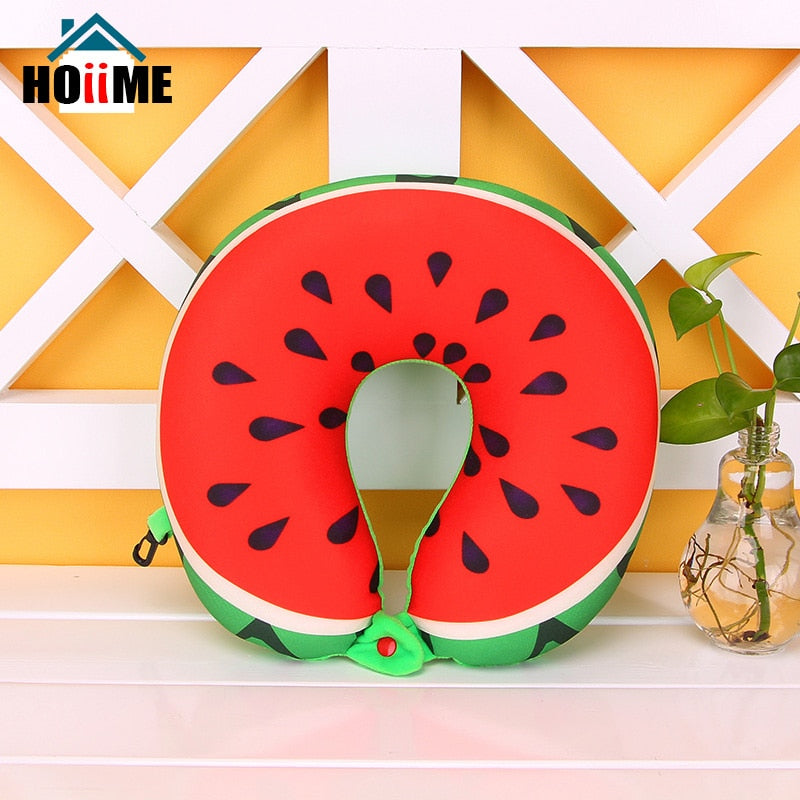 Fruits Watermelon Pineapple Kiwi U Shaped Pillow