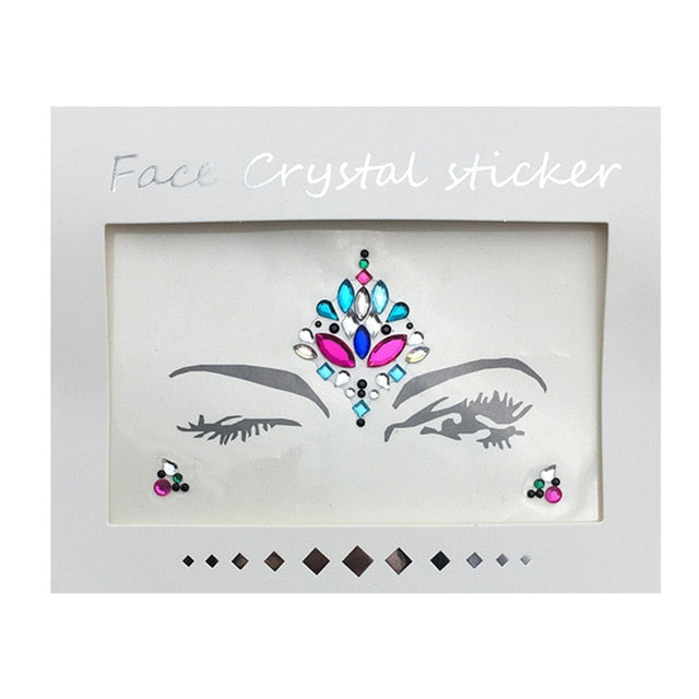 Temporary Rhinestone Glitter Tattoo Stickers