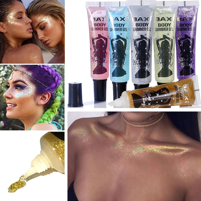 Shimmer Face Body Shadow Glitter Festival Party Eye Makeup