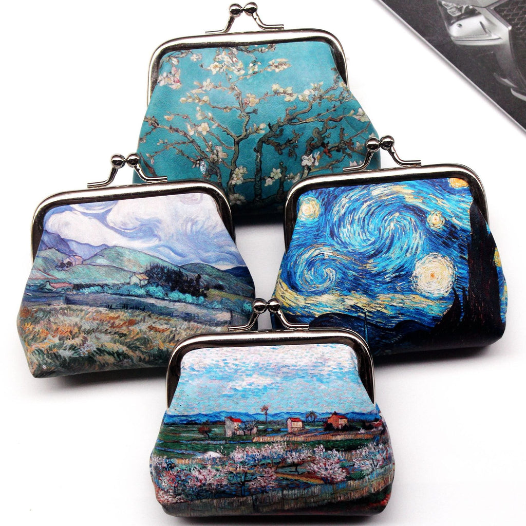 Vintage Women Printing Coin Purses