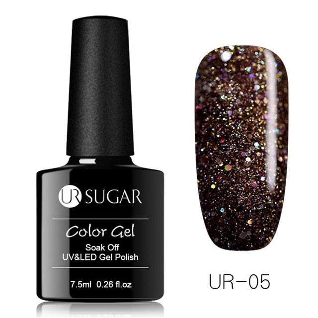 Holographic Glitter Platinum UV Nail Gel Polish
