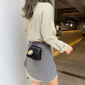 Quality Stone Pattern Leather Crossbody Bag