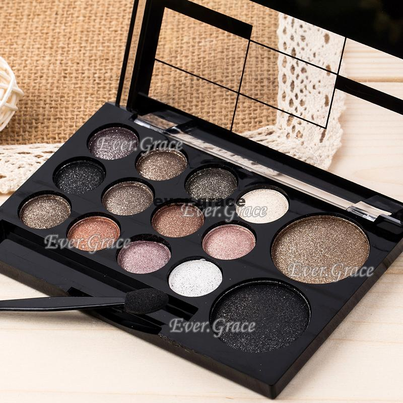 Warm Eyeshadow Palette Pigmented Smoky Silky Kit
