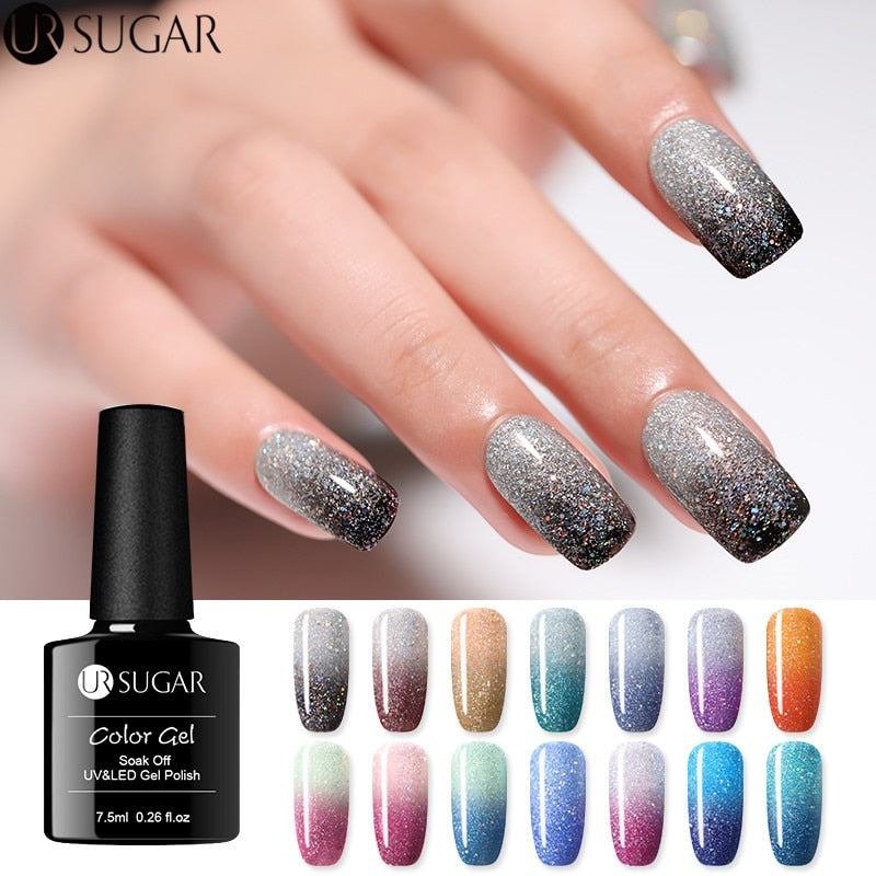 Rainbow Thermal Color Changing Gel Nail Polish