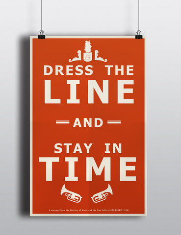 Dress the Line Poster