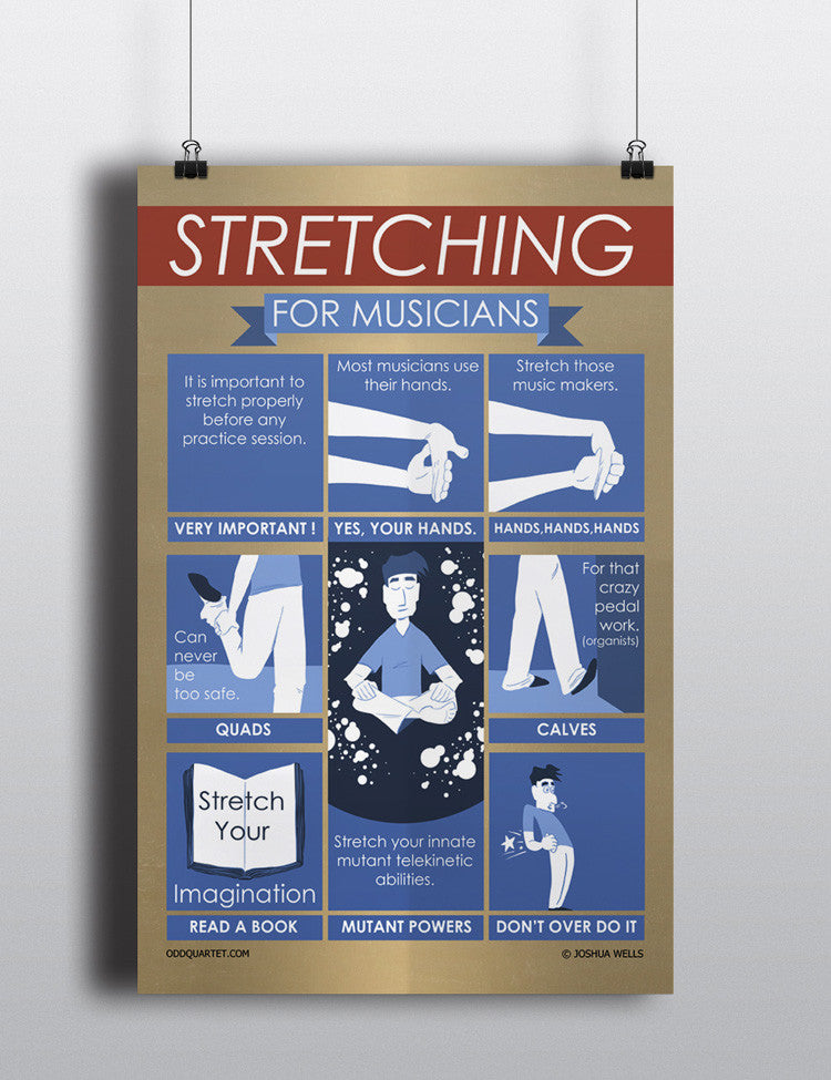 Stretching for Musicians - Poster