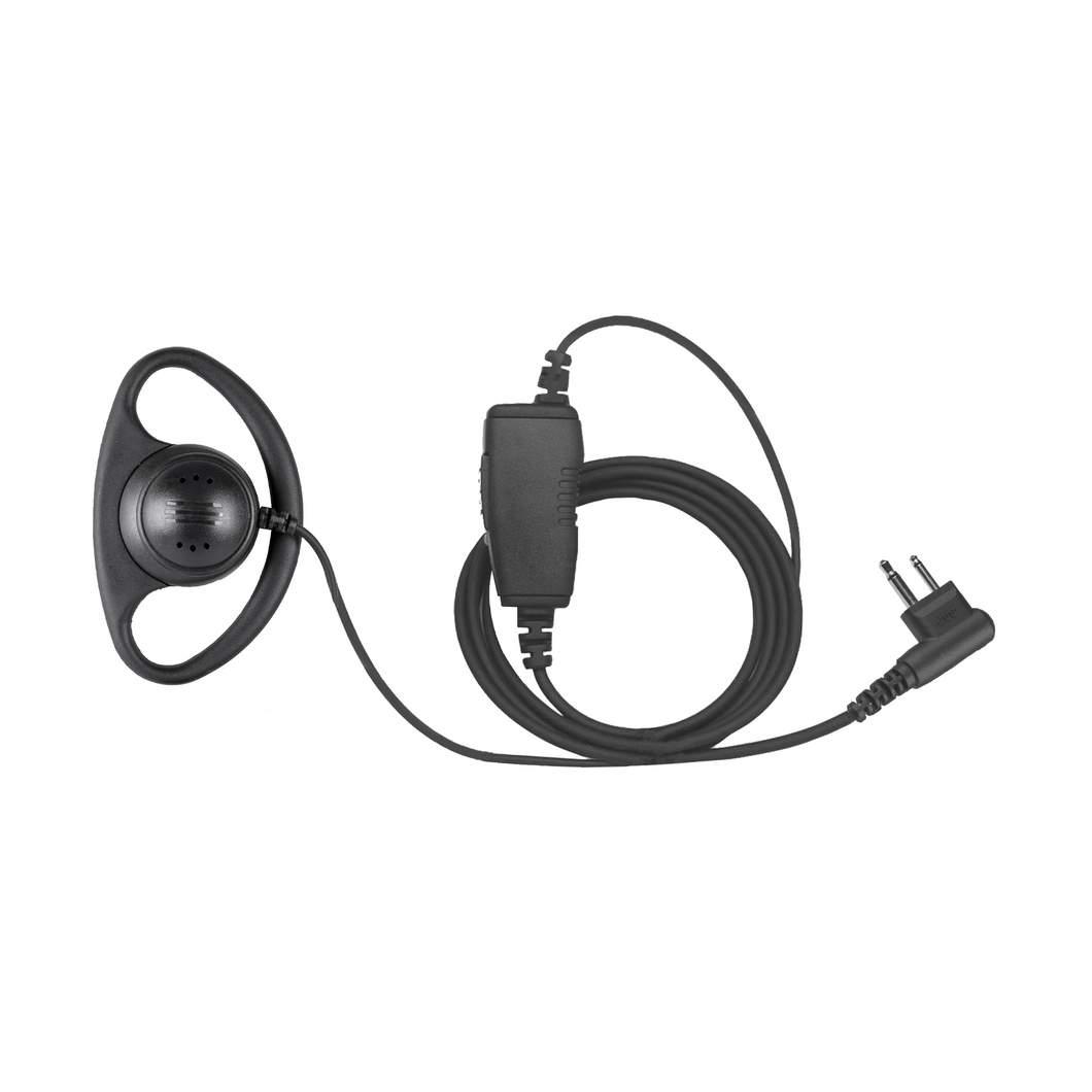 DR1W D-Ring 1-Wire Flexible Earpiece with Inline PTT and Microphone